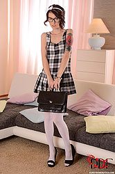 Schoolgirl Plays with her Twat